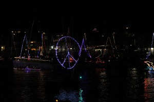 Boatparade peacesign