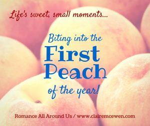 First Peach of the Year Post