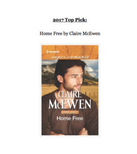 Screen shot of Home Free as Top Pick of the Book Buyer's Best Contest