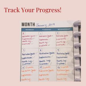 track your progress toward your goal