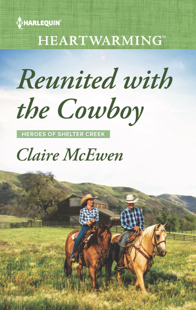 Book cover,  Reunited with the Cowboy by Claire McEwen